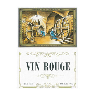 Vin Rouge Wine LabelEurope Canvas Print