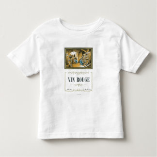 Vin Rouge Wine LabelEurope Toddler T-shirt