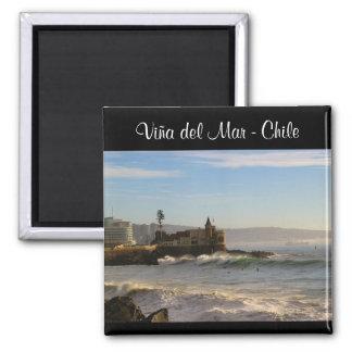 Viña del Mar - Chile Imán Cuadrado