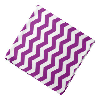 Vina Del Mar Purple Wave Chevron Bandana
