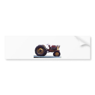 Vinage French Tractor Bumper Sticker