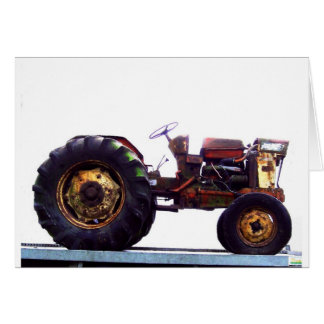 Vinage French Tractor Greeting Card