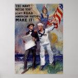 Vinage Navy Recruit Poster
