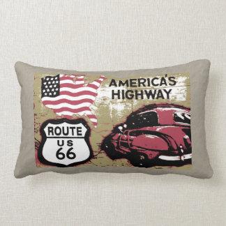Vinage Route US 66 Lumbar Pillow