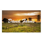 VINAGE TYPE with FARM PHOTO for FARMERS, CHEFS Business Card