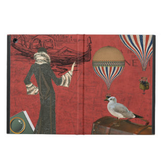Vinage Venice Travels Ephemera in Red iPad Air Cover