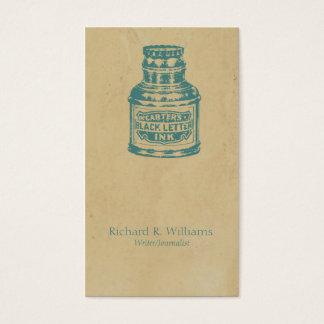 Vinatage Writing Ink Illustration Business Card