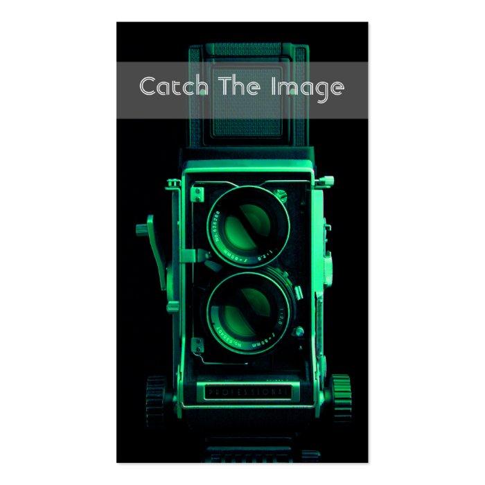 Vinatge Camera Business Card Photography