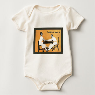 Vinatge image, Couple at the table Baby Bodysuit