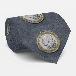 Vinatge Silver Gold Argentina Coin Tie