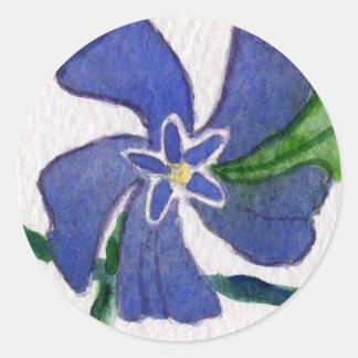 """Vinca Vine"" Floral Sticker"