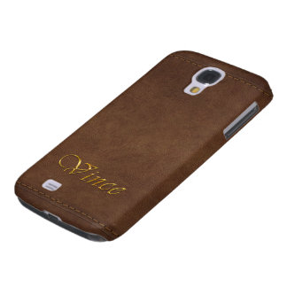 VINCE Custom Leather-look Cell Phone Case Galaxy S4 Covers