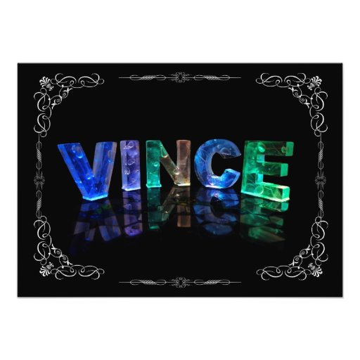 Vince  - The Name Vince in 3D Lights (Photograph)
