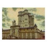 Vincennes castle, Paris painting Poster