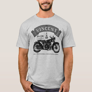 Vincent Black Shadow Classic Motorcycle T Shirt