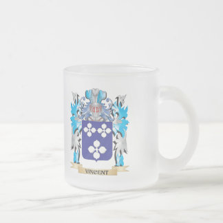 Vincent Coat of Arms - Family Crest 10 Oz Frosted Glass Coffee Mug