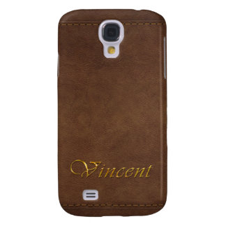VINCENT Custom Leather-look Cell Phone Case Galaxy S4 Cases