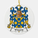 Vincent Family Crest Ornaments