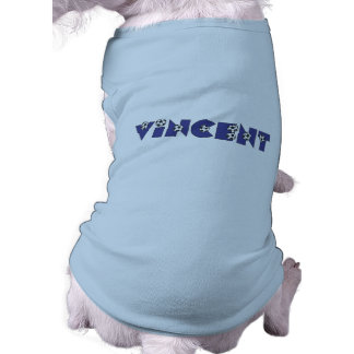 Vincent in Soccer Blue Tee