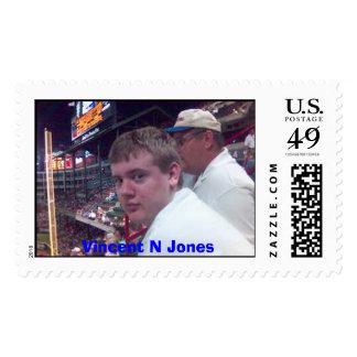 Vincent Jones at the ballpark Postage Stamp