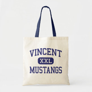 Vincent Mustangs Middle Beaumont Texas Tote Bags