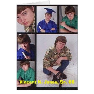 Vincent senior collage, Vincent N. Jones, Sr. 06 Card