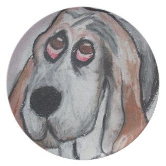 Vincent the Dog Basset Hound Plate