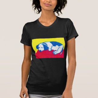 Vincent the Dog in Primary Colors T-Shirt