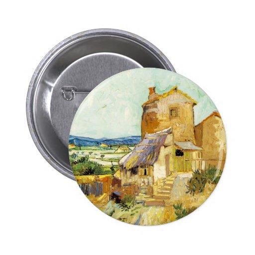 Vincent van Gogh (1853-1890) - el molino viejo (18 Pin Redondo 5 Cm