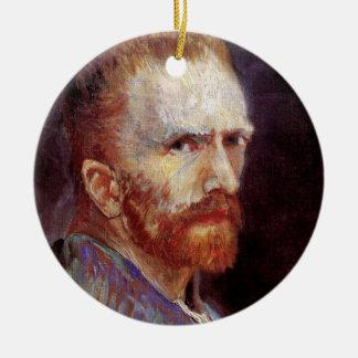 Vincent Van Gogh - 1887 Self Portrait Painting Ceramic Ornament