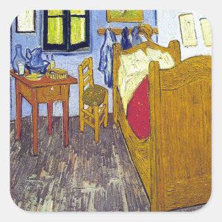 Vincent van Gogh 1888 The Bedroom At Arles Square Sticker