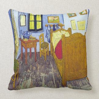 Vincent van Gogh 1888 The Bedroom At Arles Throw Pillow