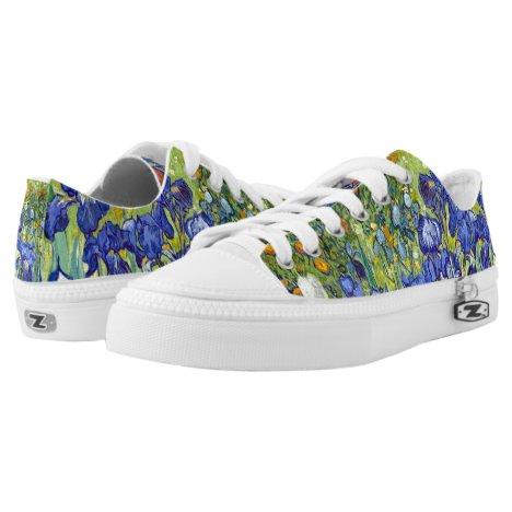 Vincent van Gogh 1889 Irises Low-Top Sneakers