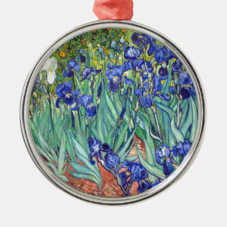 Vincent van Gogh 1889 Irises Metal Ornament