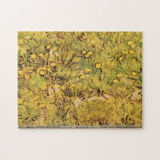 Vincent van Gogh-A Field of Yellow Flowers Puzzle