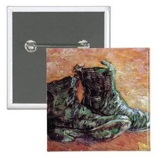 Vincent Van Gogh - A Pair Of Shoes Button