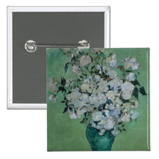 Vincent van Gogh | A Vase of Roses, 1890 Button