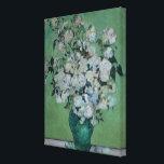 "Vincent van Gogh | A Vase of Roses, 1890 Canvas Print<br><div class=""desc"">Image:83691  A Vase of Roses,  1890 (oil on canvas). Gogh,  Vincent van (1853-90). Private Collection,  Peter Willi.  Art,  Fine Art.</div>"