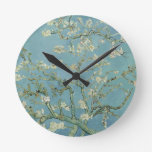 Vincent Van Gogh Almond Blossom Floral Painting Round Clock
