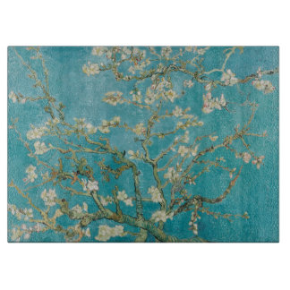 vincent van gogh almond blossoms cutting board
