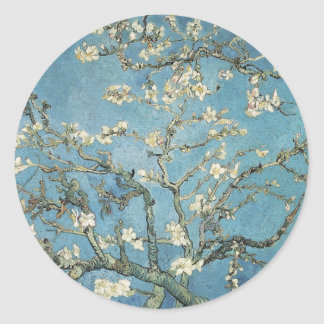 Vincent van Gogh | Almond branches in bloom, 1890 Classic Round Sticker