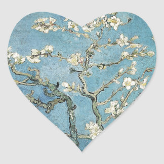 Vincent van Gogh | Almond branches in bloom, 1890 Heart Sticker