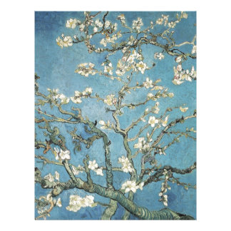 Vincent van Gogh | Almond branches in bloom, 1890 Letterhead