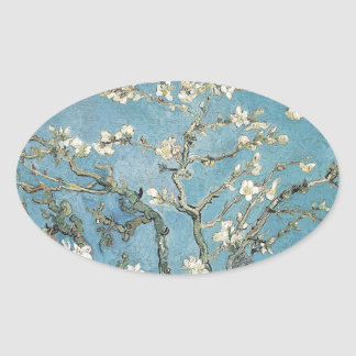 Vincent van Gogh | Almond branches in bloom, 1890 Oval Sticker