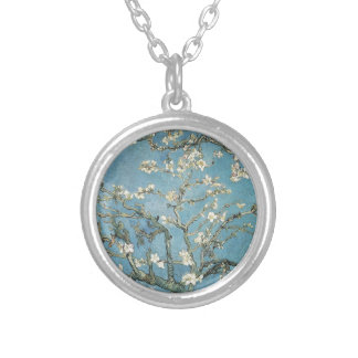 Vincent van Gogh | Almond branches in bloom, 1890 Silver Plated Necklace