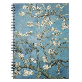 Vincent van Gogh   Almond branches in bloom, 1890 Spiral Notebook