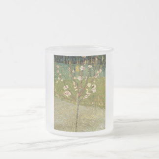 Vincent van Gogh - Almond tree in blossom Frosted Glass Coffee Mug