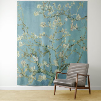 Vincent Van Gogh Almond tree in blossom Tapestry