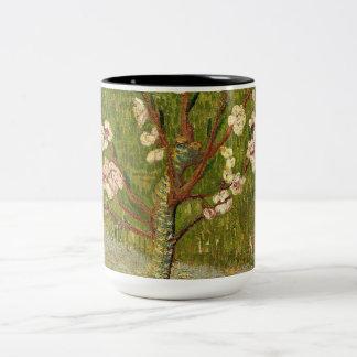 Vincent van Gogh - Almond tree in blossom Two-Tone Coffee Mug