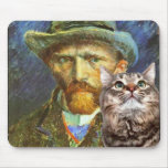 """Vincent Van Gogh and his Cat """"Theo"""" Mouse Mat"""